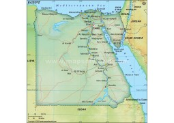 Egypt Political Map, Dark Green  - Digital File