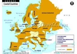 Europe Coastal Countries Map