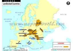 Europe Landlocked Countries Map - Digital File