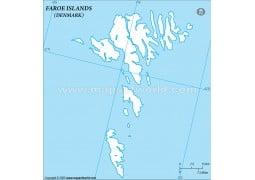 Faroe islands Outline Map  - Digital File