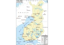Finland Physical Map  - Digital File