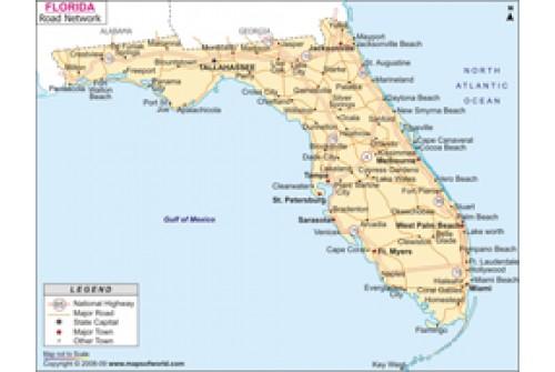 Buy Florida Road Map - Florida road map