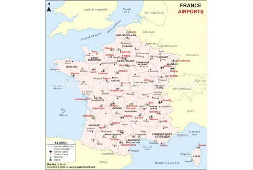 France Airport Map