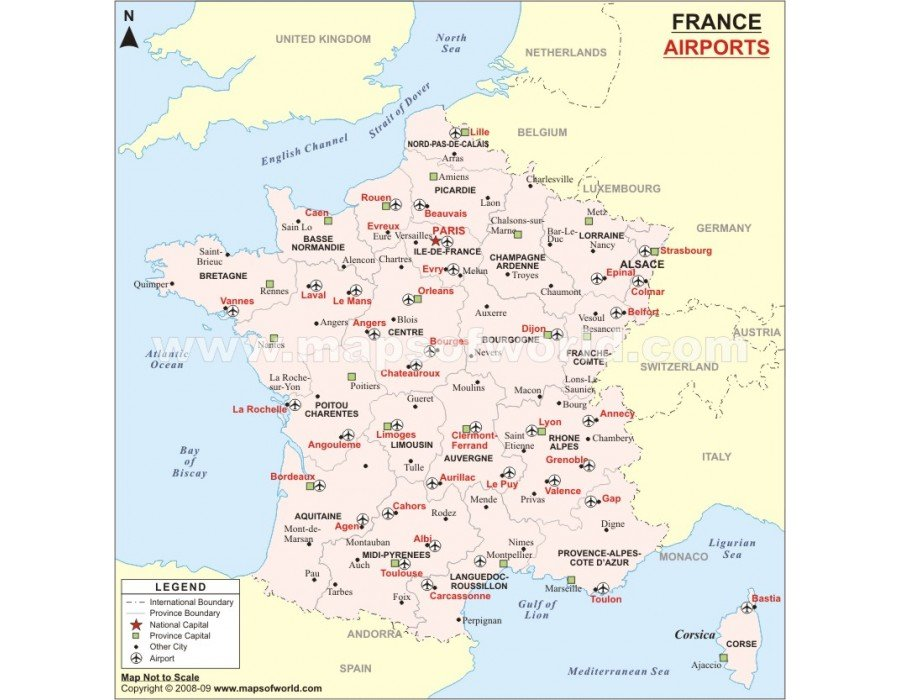 french international airports map Buy France Airport Map french international airports map