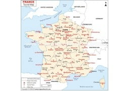 France Tourist Places Map - Digital File