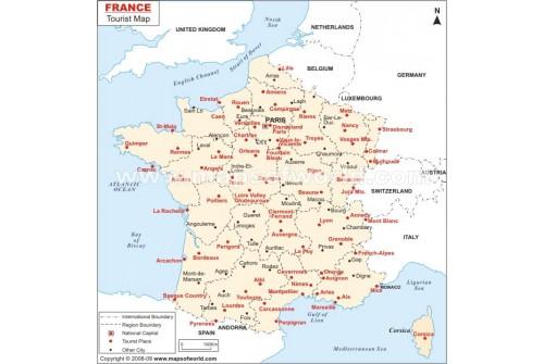 France Tourist Places Map