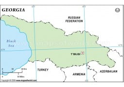 Georgia Outline Map, Green  - Digital File