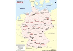 Germany Airport Map  - Digital File