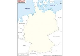 Outline Map of Germany