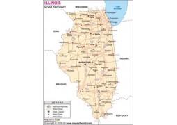 Digital Road Map of Illinois - Digital File