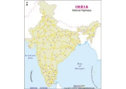 National Highway Map of India - Digital File