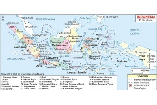 Buy Indonesia Political Map - Indonesia political map