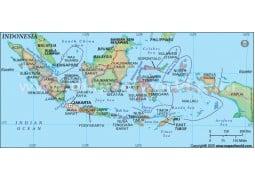 Indonesia Map with States - Digital File