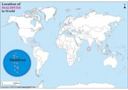 Maldives Location Map - Digital File