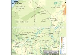 Mali Physical Map - Digital File