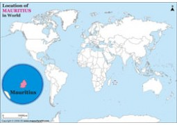 Mauritius Location Map - Digital File