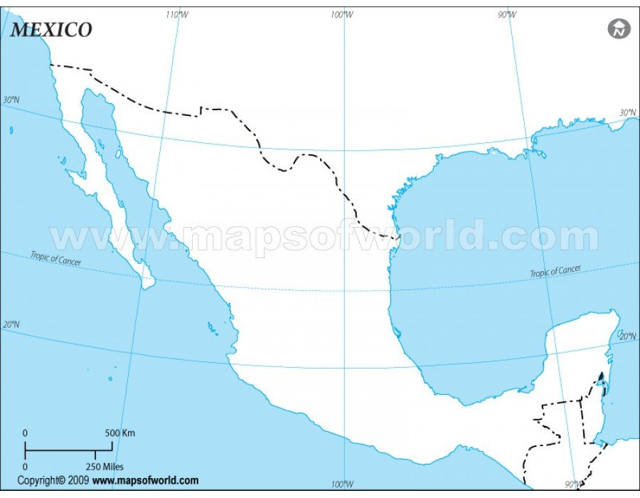 Buy Blank Map Of Mexico