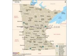 Minnesota State Map  - Digital File