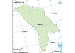 Moldova Outline Map - Digital File