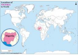 Nigeria Location Map  - Digital File