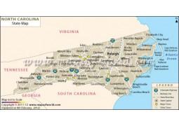 North Carolina State Map - Digital File