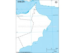 Oman Outline Map