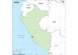 Peru Outline Map - Digital File