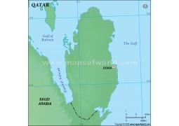 Qatar Green Blank Map - Digital File