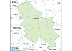 Serbia Outline Map - Digital File