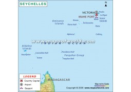 Mahe Port Map of Seychelles - Digital File