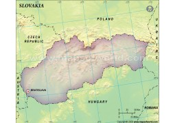 Slovakia Blank Map - Digital File