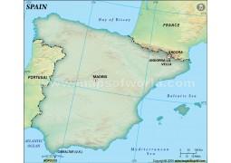 Spain Blank Dark Green  - Digital File