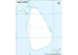Sri Lanka Outline Map - Digital File