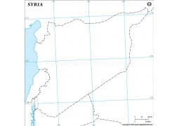 Syria Outline Map - Digital File