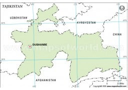 Tajikistan Outline Map - Digital File