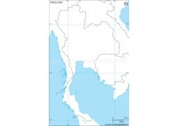 Thailand Outline Map - Digital File
