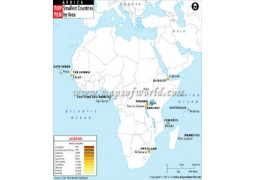 Top Ten Smallest African Countries by Area - Digital File