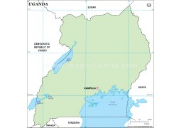 Uganda Outline Map - Digital File