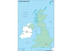 UK Outline Map, Green  - Digital File