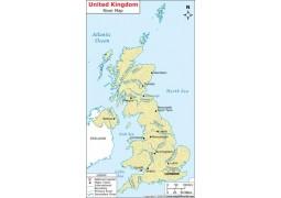 UK River Map  - Digital File