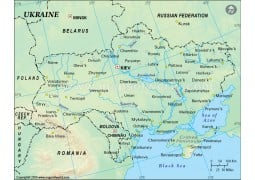 Ukraine Physical Map - Digital File