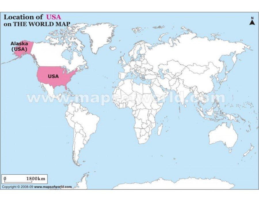 Buy Usa Location Map