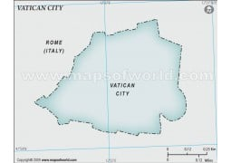 Vatican City Blank Map, Gray - Digital File