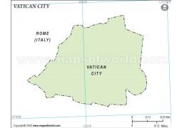 Vatican City Outline Map - Digital File