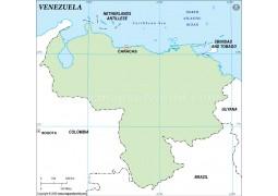 Venezuela Outline Map
