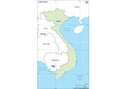 Vietnam Outline Map - Digital File