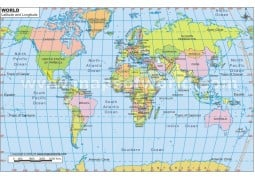 World Map in Pseudocylindrical Projection