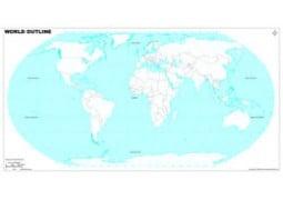 World Mercator Projection Map