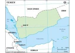 Yemen Outline Map - Digital File