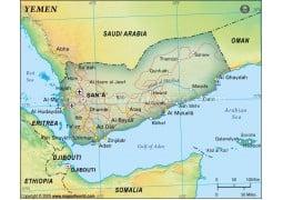 Yemen Political Map, Dark Green - Digital File